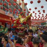 The Chinese New Year in Bangkok, Thailand in 25 January 2020